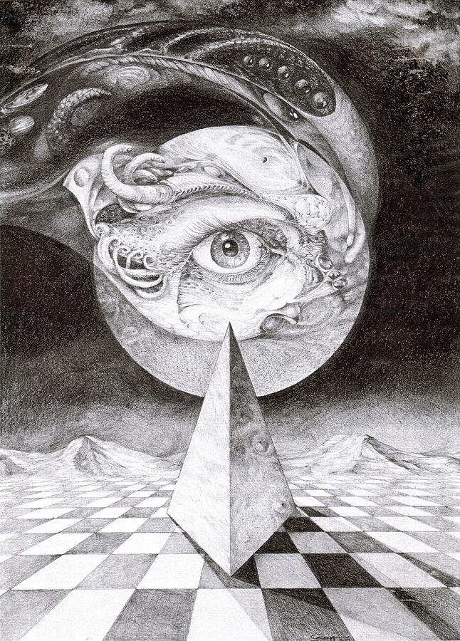 Eye Of The Dark Star Drawing  - Eye Of The Dark Star Fine Art Print