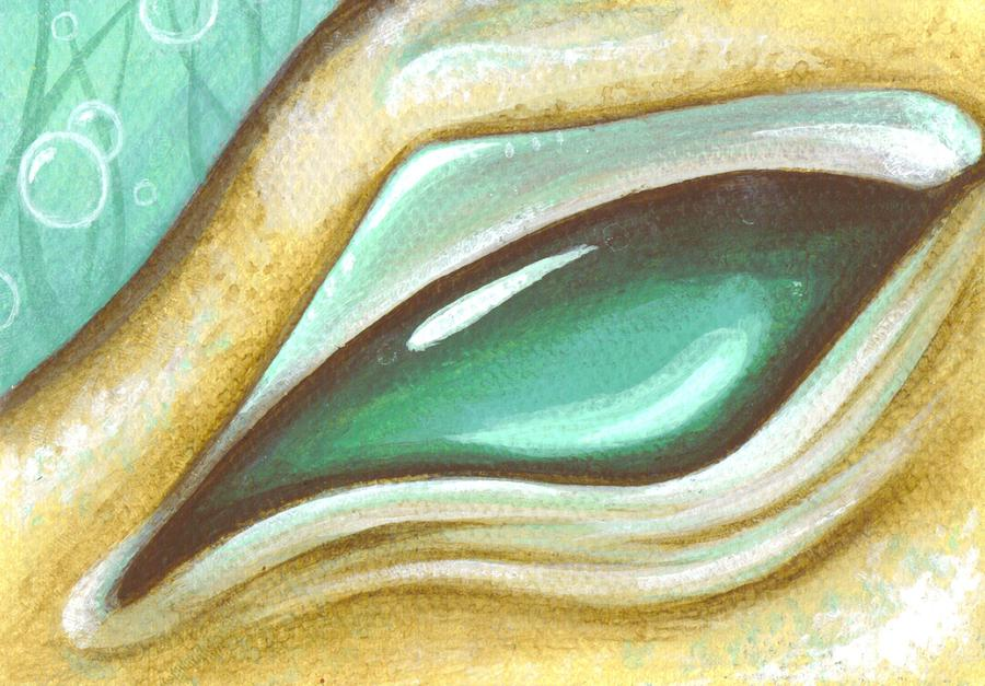 Eye Of The Sea Dragon Painting