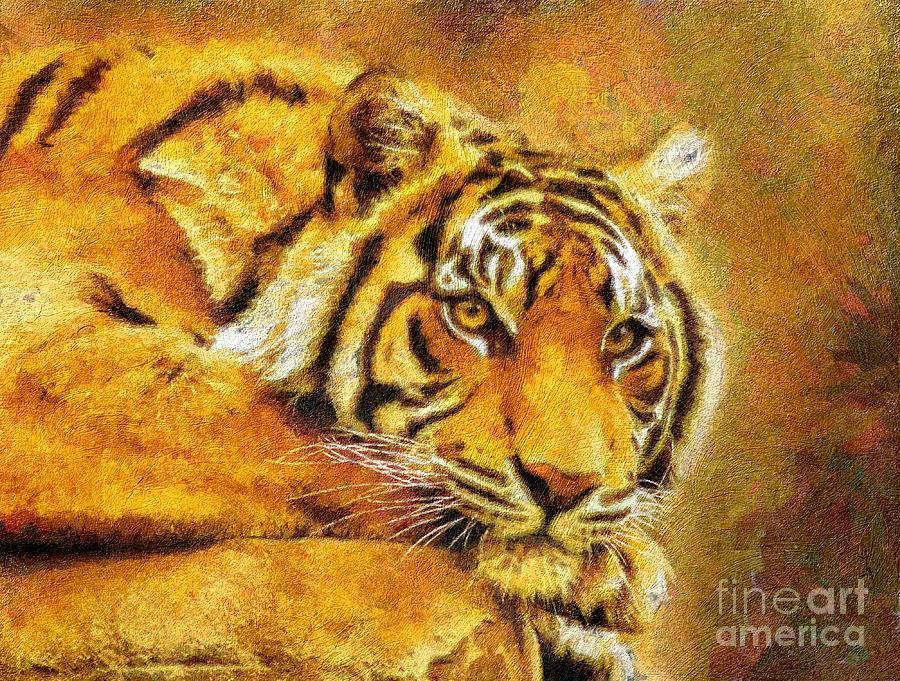 Eye Of The Tiger Digital Art  - Eye Of The Tiger Fine Art Print