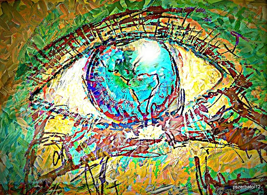 Eye Post-impressionist Digital Art  - Eye Post-impressionist Fine Art Print