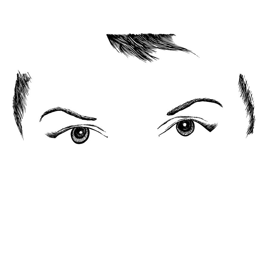 Eyes Drawing  - Eyes Fine Art Print