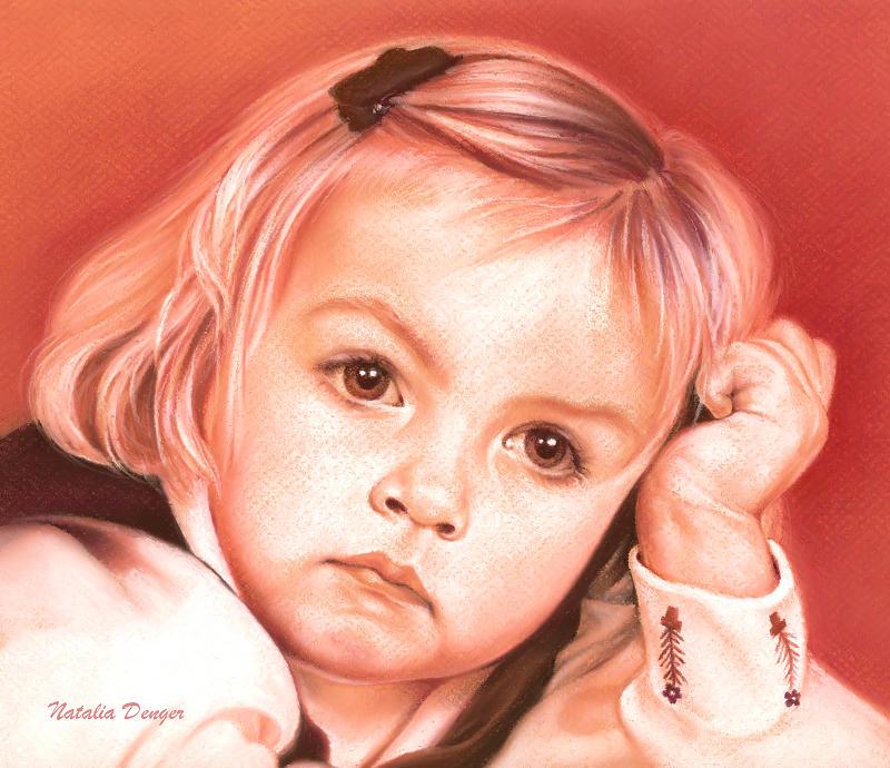 Little Girl Drawing - Eyes Of A Little Girl by Natasha Denger