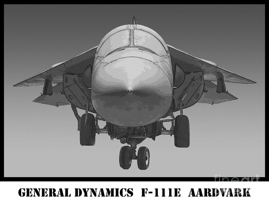 F-111e Aardvark Drawing Photograph  - F-111e Aardvark Drawing Fine Art Print