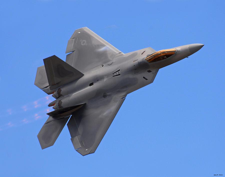 F22 Photograph - F-22 03 by Jeff Stallard