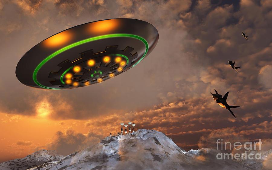 Alien Painting In Acrylic