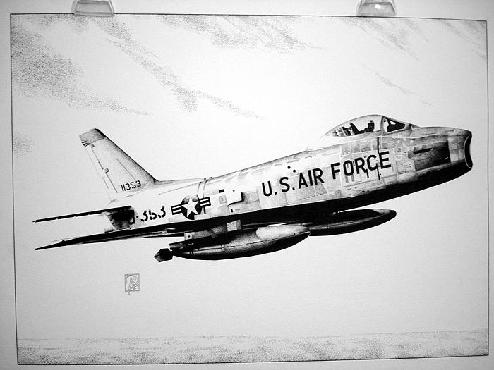 F-86 Sabre Drawing