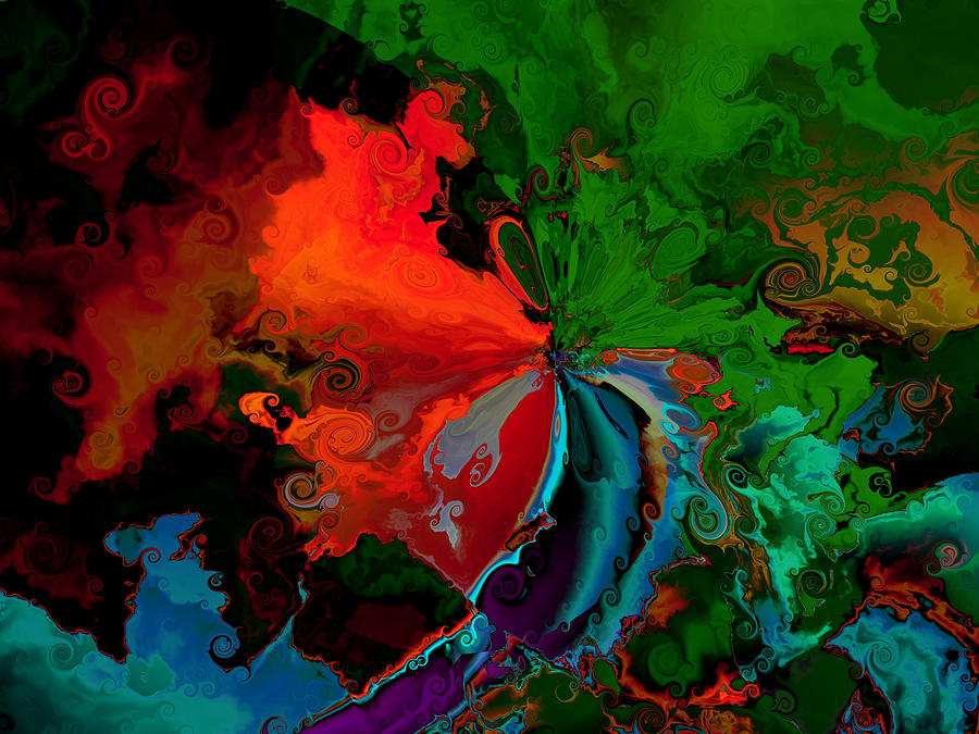 Faa Abstract 3 Invasion Of The Reds Digital Art