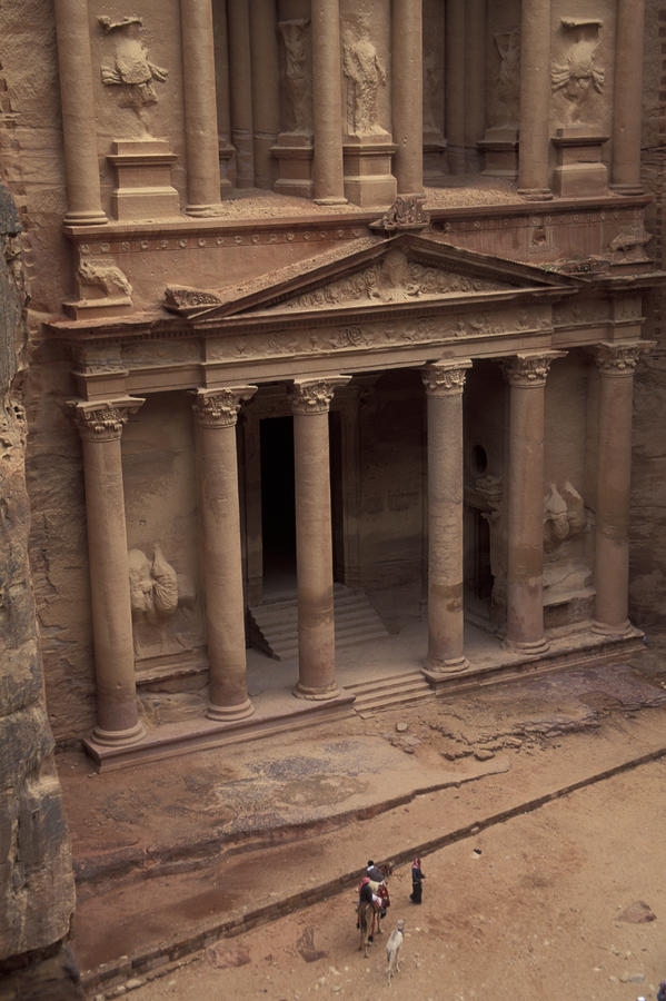 Facade Of The Treasury In Petra, Jordan Photograph  - Facade Of The Treasury In Petra, Jordan Fine Art Print