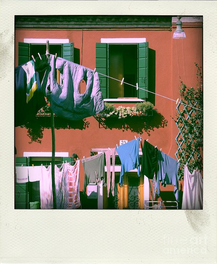 Facades Of Burano. Venice Photograph