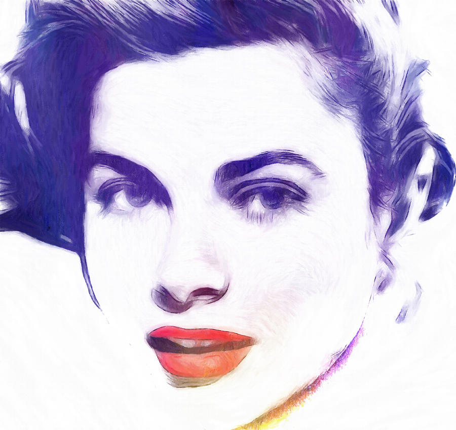Grace Kelly Pastel Painting Portrait Female Woman Famous Hollywood Star Actress Pastel - Face Of Beauty by Steve K