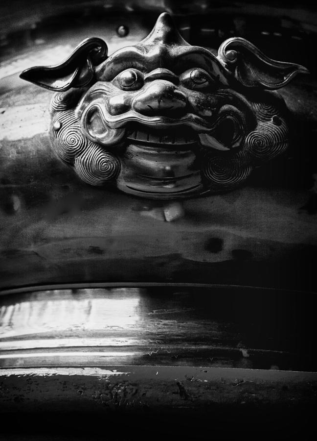 Face On A Incense Pot Taken In The Guan Di Temple In Ku Photograph  - Face On A Incense Pot Taken In The Guan Di Temple In Ku Fine Art Print