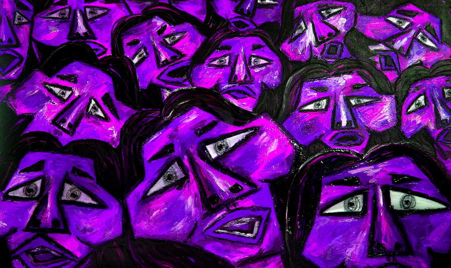 Faces - Purple Painting