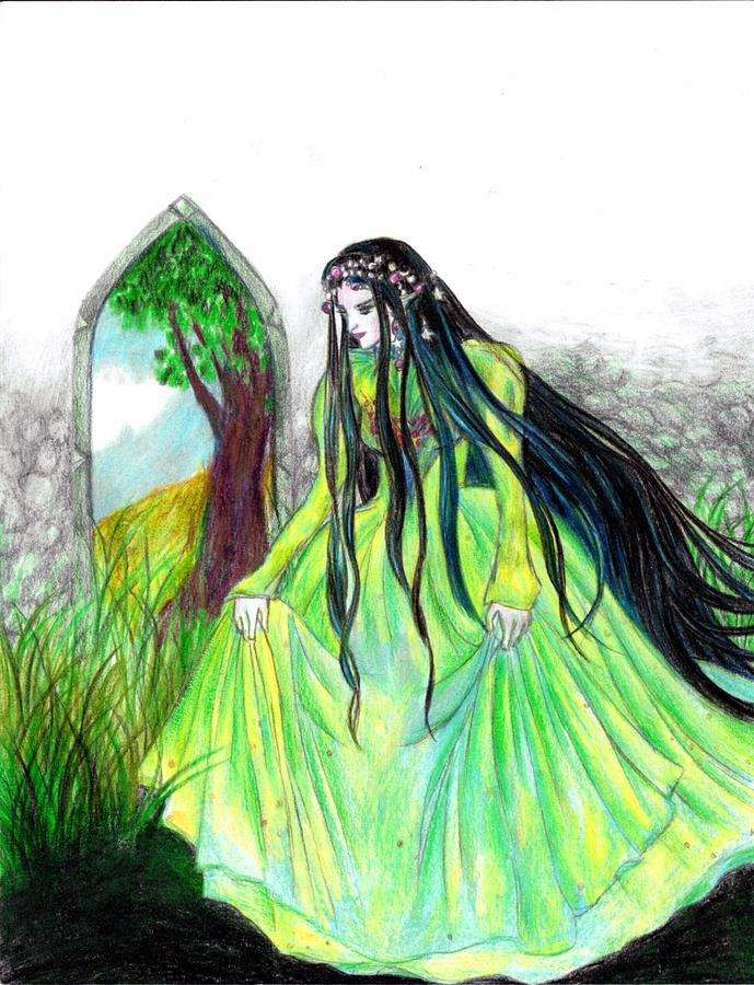 Faerie Queen Drawing  - Faerie Queen Fine Art Print
