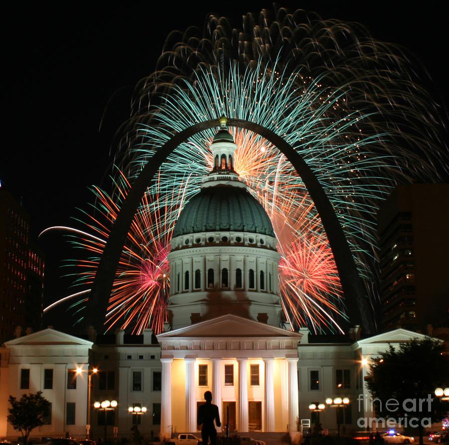 Fair St Louis Fireworks Photograph