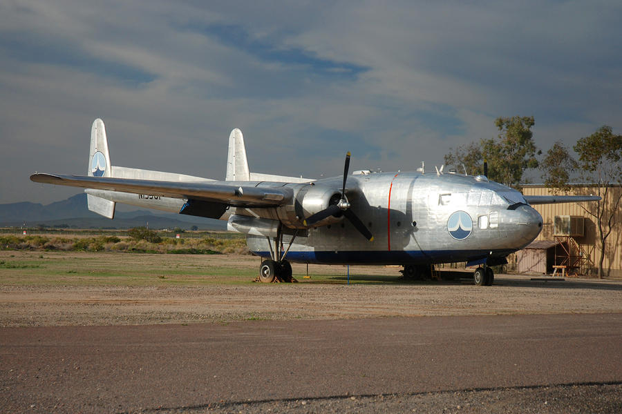Fairchild Flying Boxcar N15501 Buckeye Arizona Photograph  - Fairchild Flying Boxcar N15501 Buckeye Arizona Fine Art Print