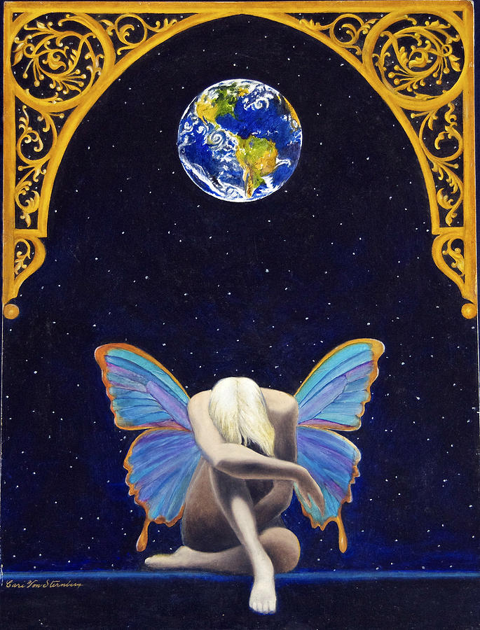 Fairies Lament Painting  - Fairies Lament Fine Art Print