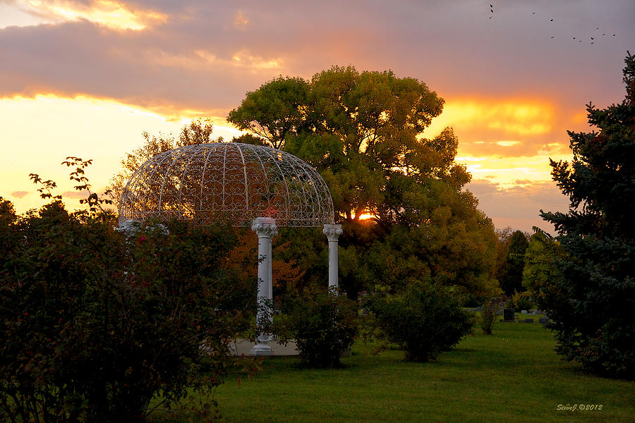 Fairmount Gazebo At Sunset Photograph  - Fairmount Gazebo At Sunset Fine Art Print