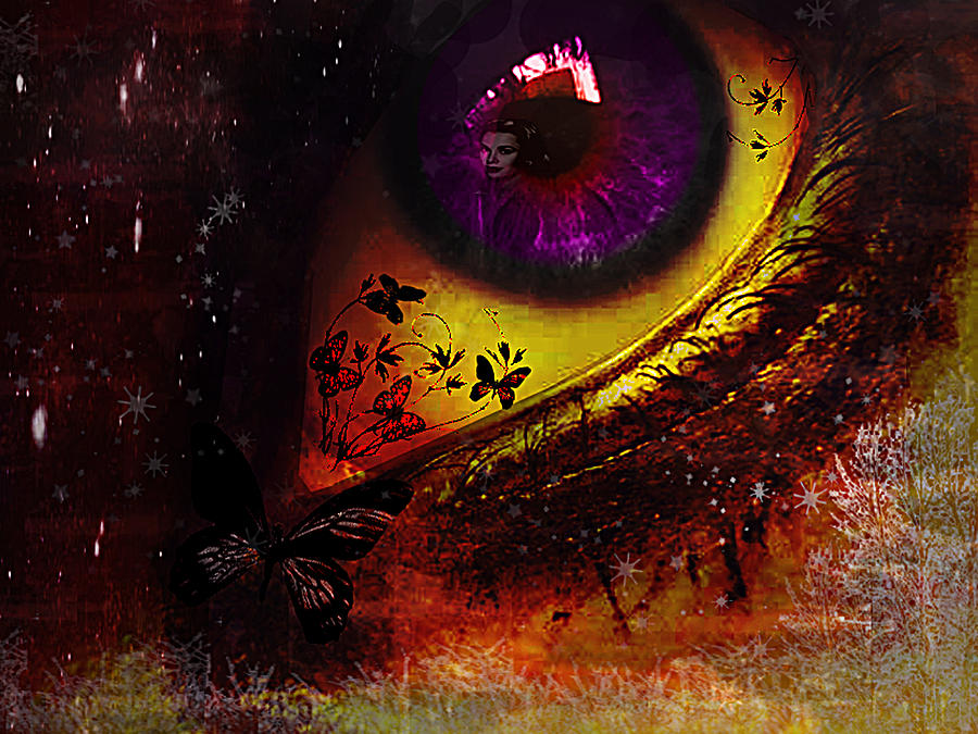 Fairy Eye Digital Art  - Fairy Eye Fine Art Print