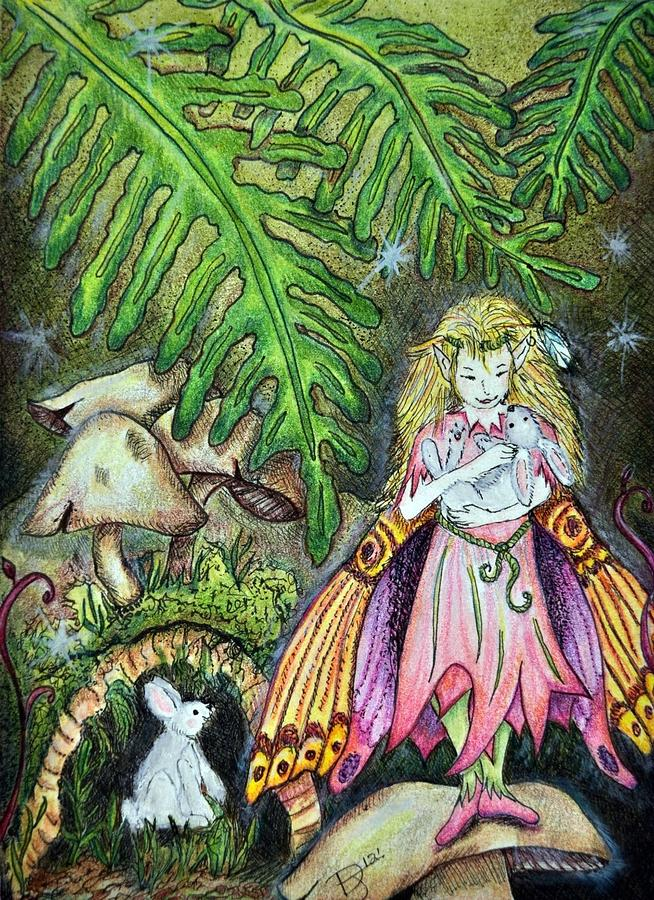 Fairy In The Woods Painting  - Fairy In The Woods Fine Art Print