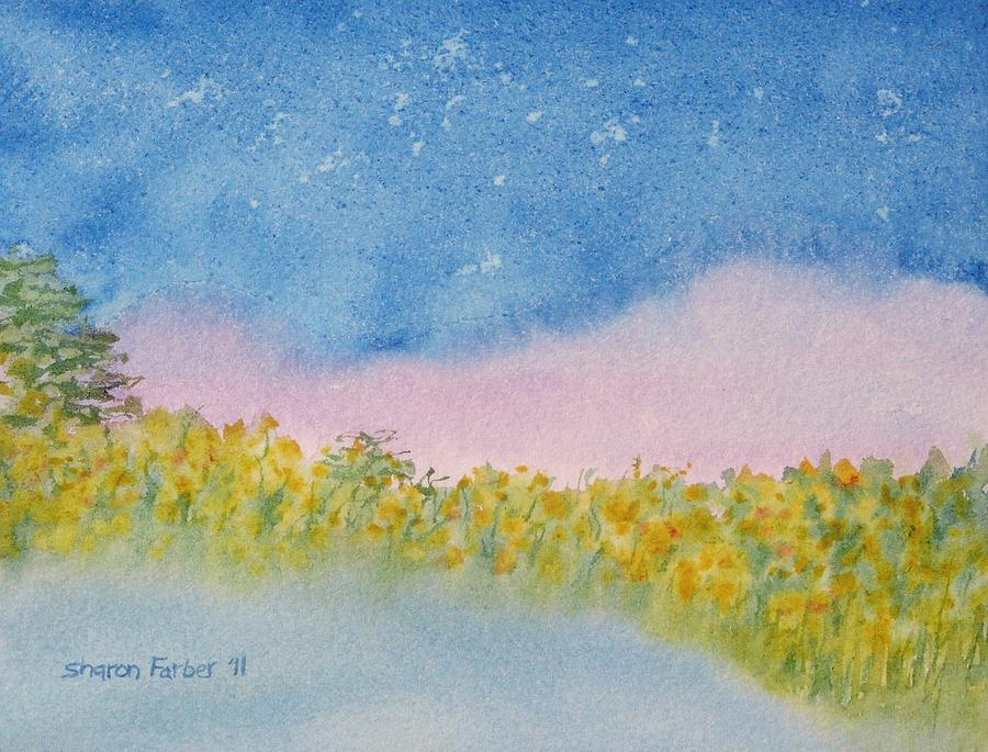 Landscape Painting - Fairy Mist by Sharon Farber
