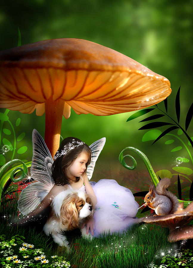Fairy Woodland Digital Art  - Fairy Woodland Fine Art Print