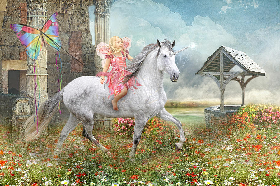Fairytales And Wishing Wells Digital Art  - Fairytales And Wishing Wells Fine Art Print