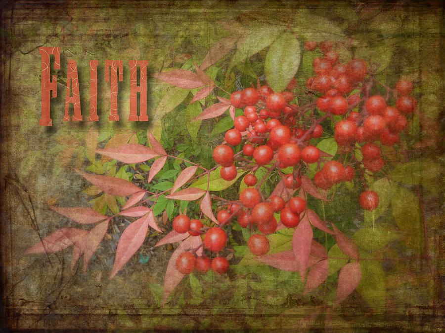 Faith Spring Berries Photograph  - Faith Spring Berries Fine Art Print