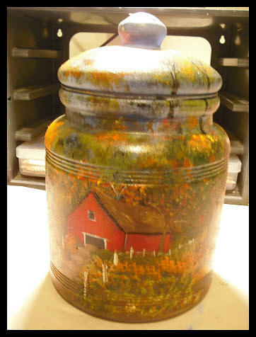 Fall At The Barn Glass Art