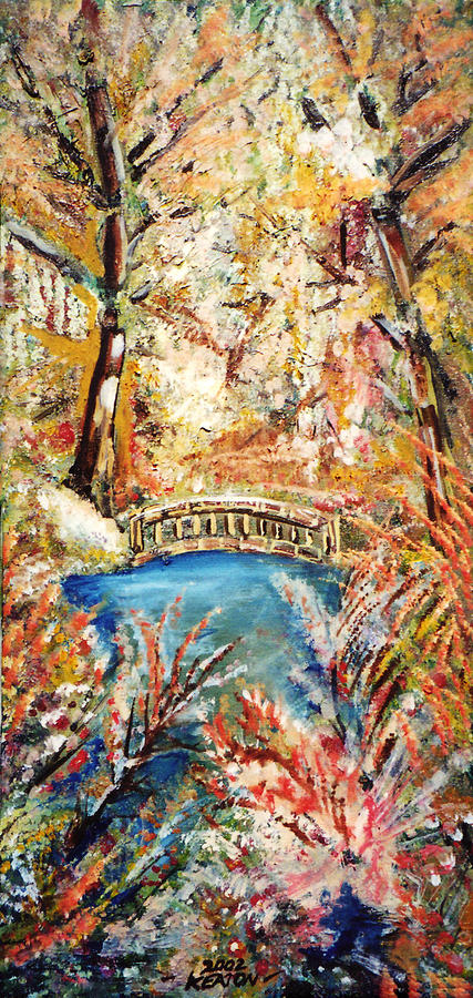 Fall Bridge Painting  - Fall Bridge Fine Art Print
