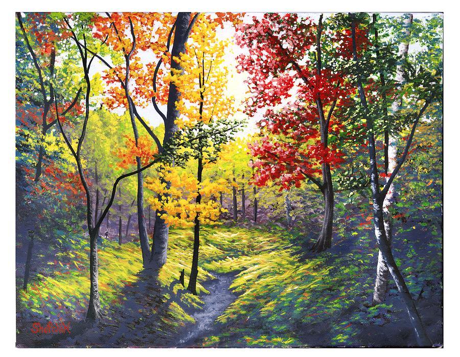 Fall Colors Painting By Dan Shefchik