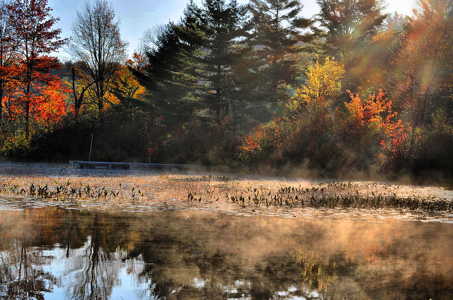 Adirondack Photograph - Fall Fog Rising by Emily Stauring