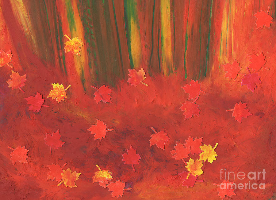 Fall Forest Floor By Jrr Painting  - Fall Forest Floor By Jrr Fine Art Print