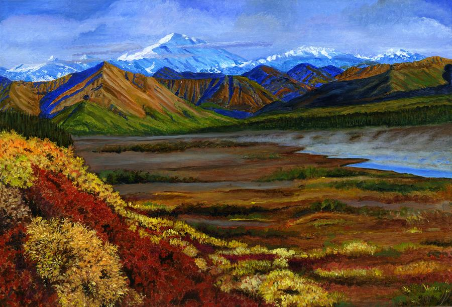 Fall In Alaska Painting  - Fall In Alaska Fine Art Print