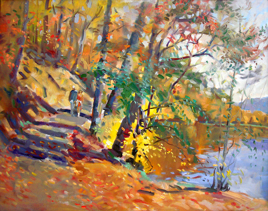 Fall In Bear Mountain Painting  - Fall In Bear Mountain Fine Art Print