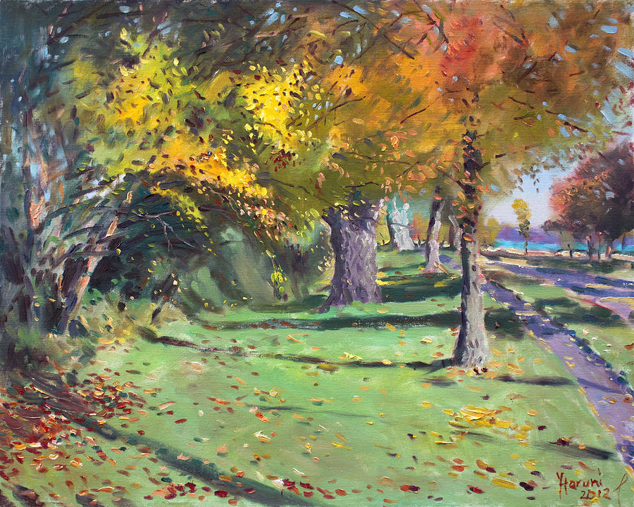 Fall In Goat Island Painting