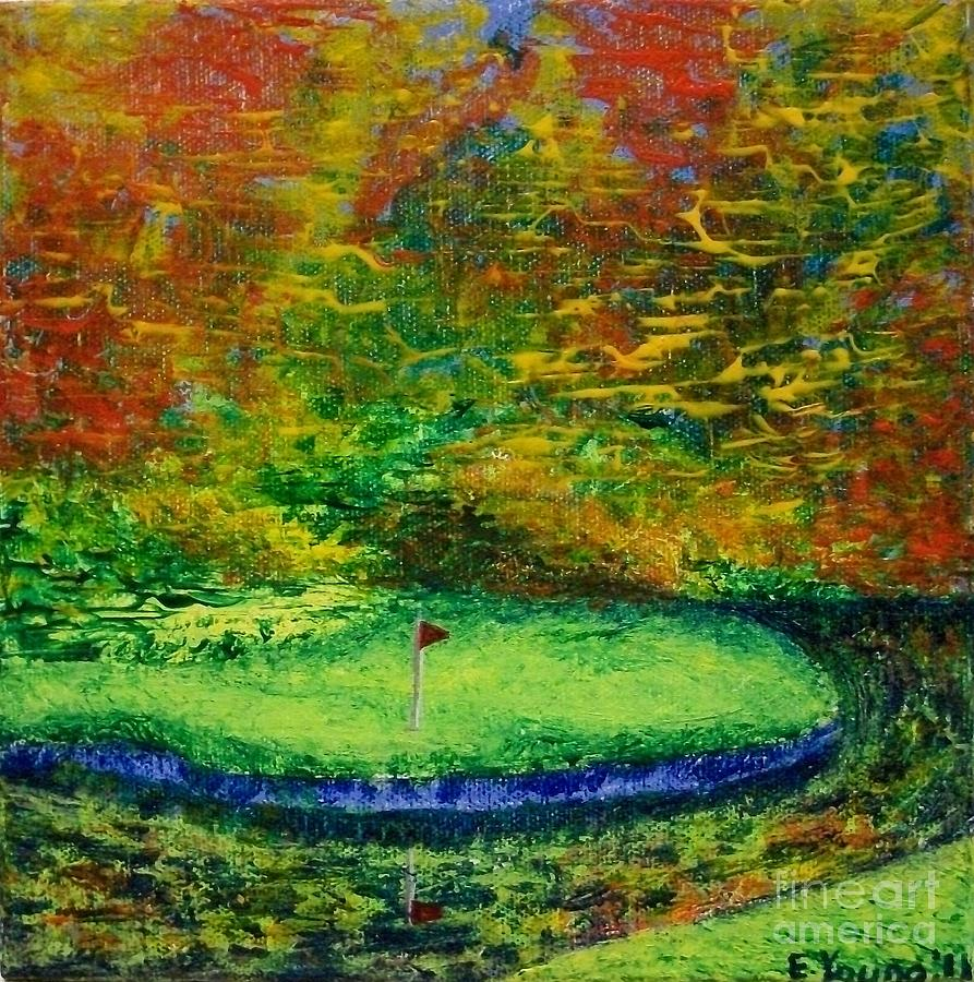 Fall On The Green Painting  - Fall On The Green Fine Art Print