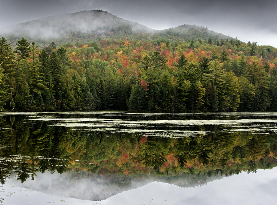 Fall Reflections In The Adirondack Mountains Photograph  - Fall Reflections In The Adirondack Mountains Fine Art Print