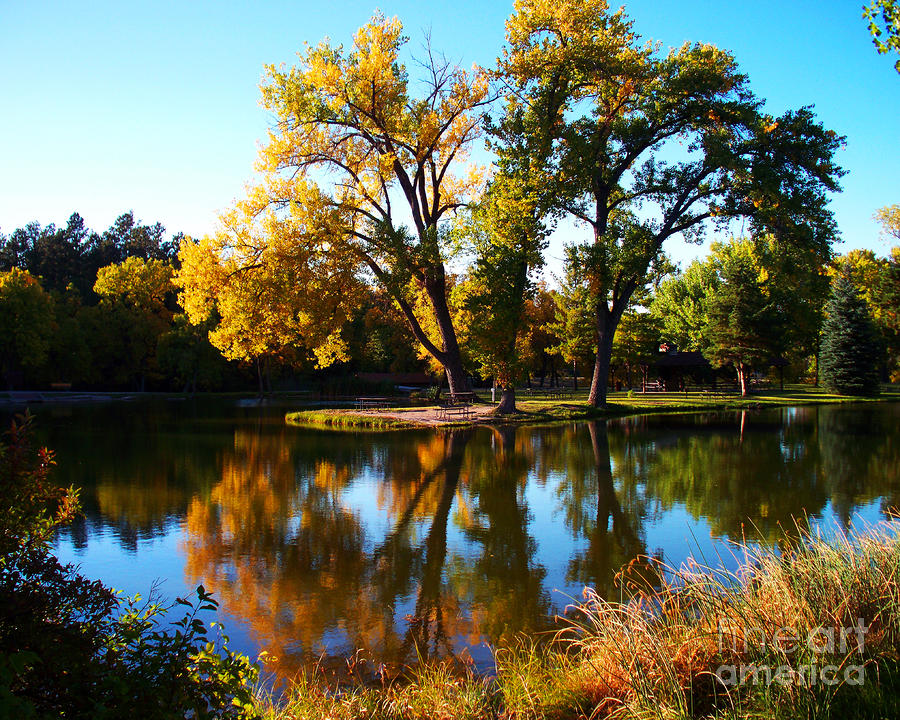 Fall Reflections Photograph  - Fall Reflections Fine Art Print