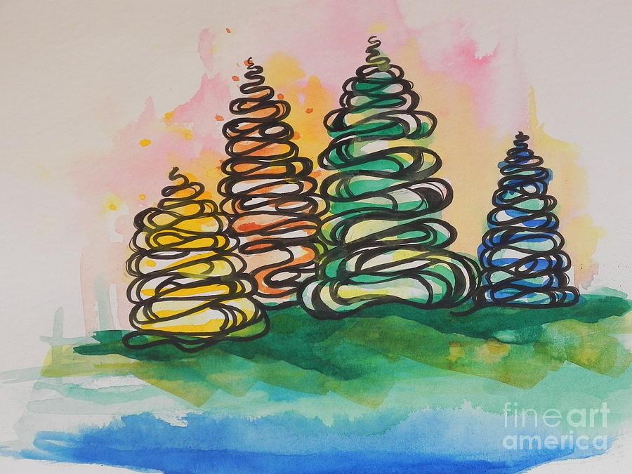 Fall Season ..swirling In... Painting
