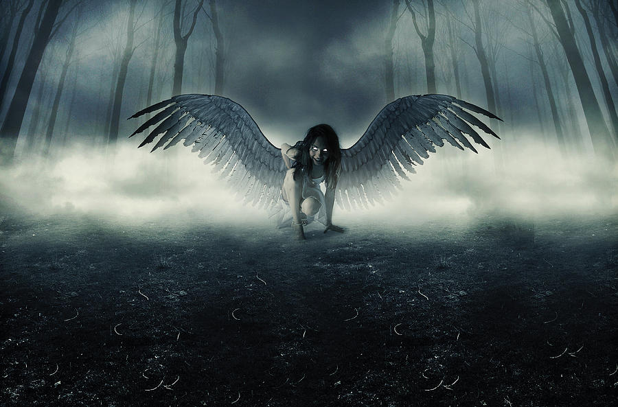 Fallen Angel Digital Art