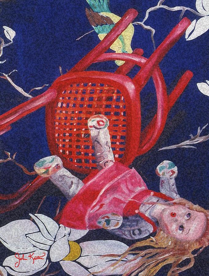 Fallen Desire Detail Painting