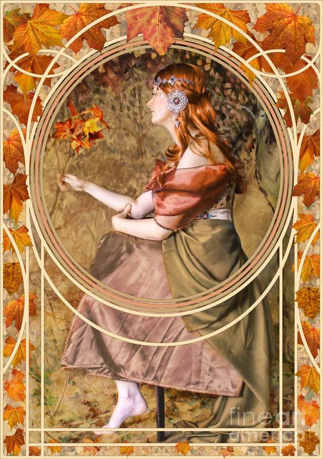 Falling Leaves Digital Art  - Falling Leaves Fine Art Print
