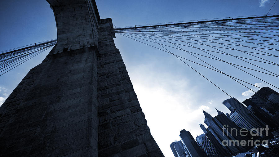 Falling Lines - Brooklyn Bridge Photograph