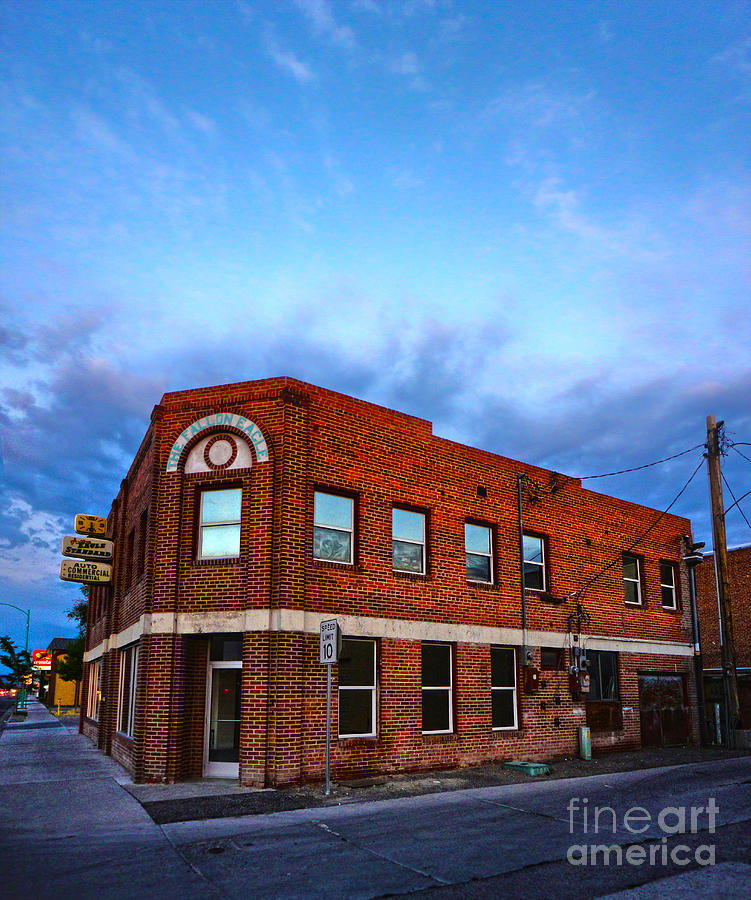 Fallon Nevada Building Photograph  - Fallon Nevada Building Fine Art Print