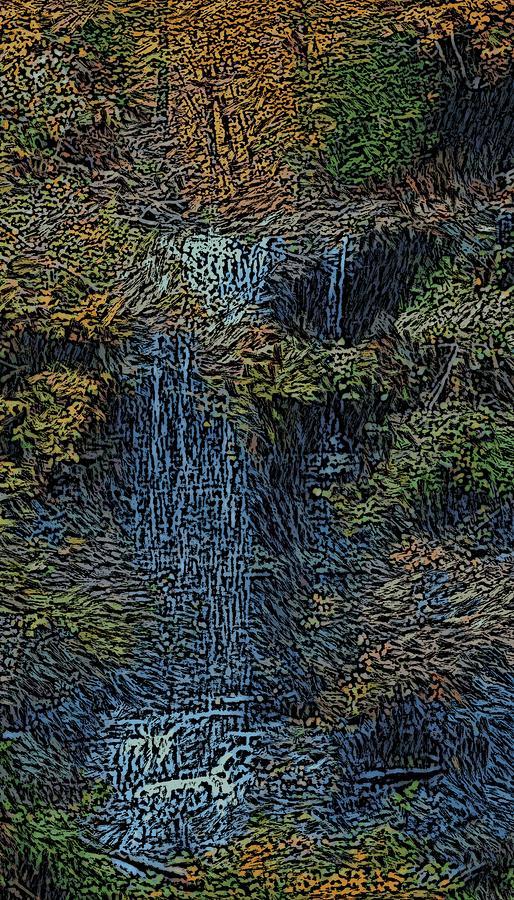 Falls Woodcut Photograph