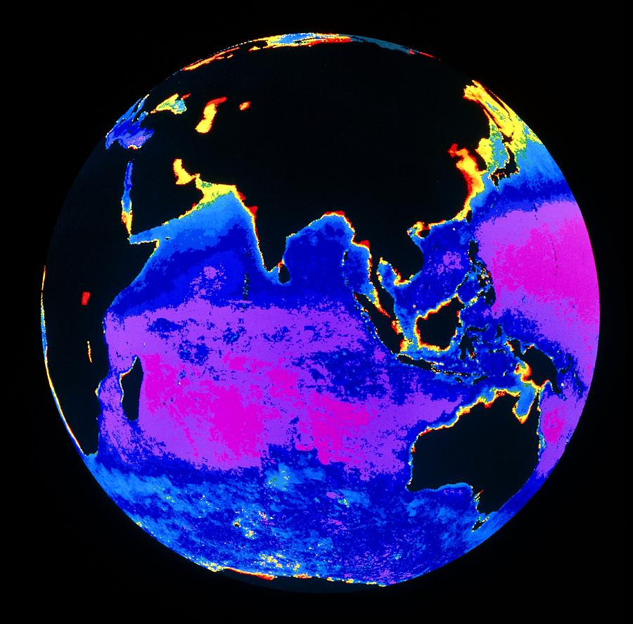 False Colour Image Of The Indian Ocean Photograph