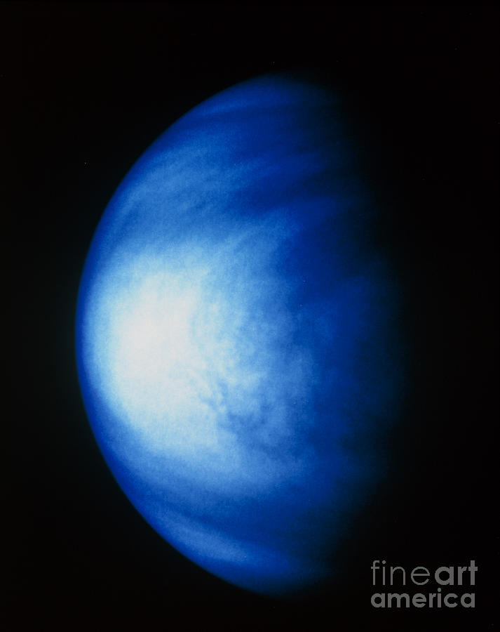 False Colour Image Of Venus Sulphuric Photograph  - False Colour Image Of Venus Sulphuric Fine Art Print