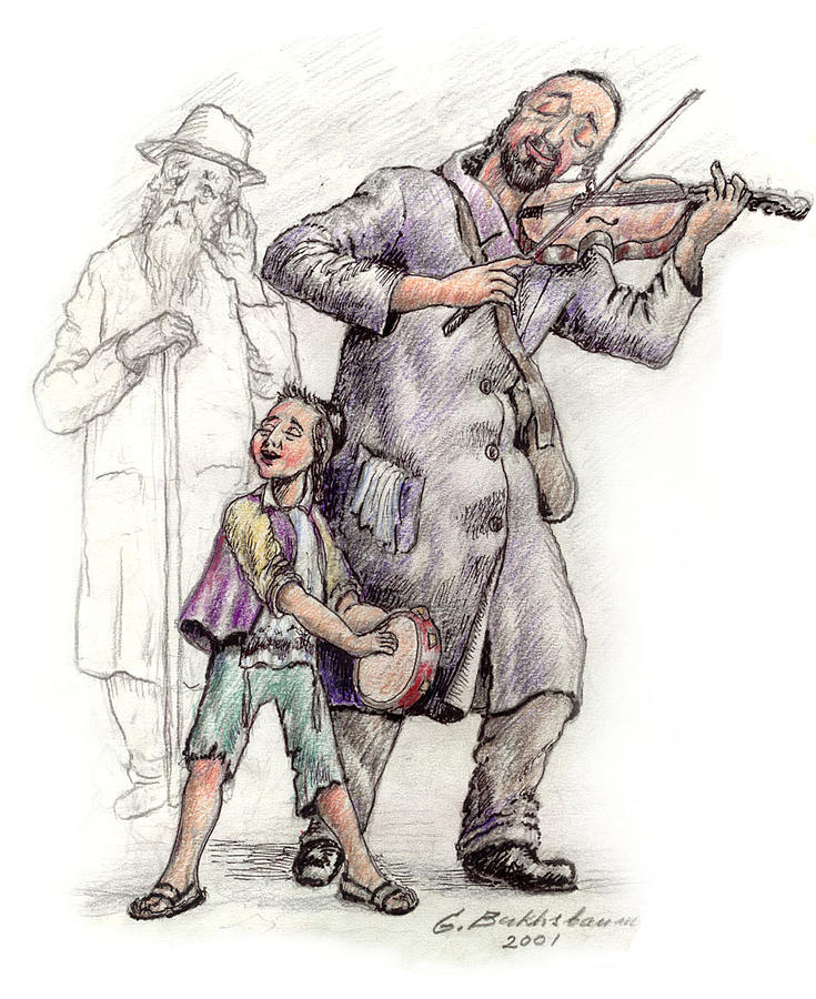 Family Band Drawing  - Family Band Fine Art Print