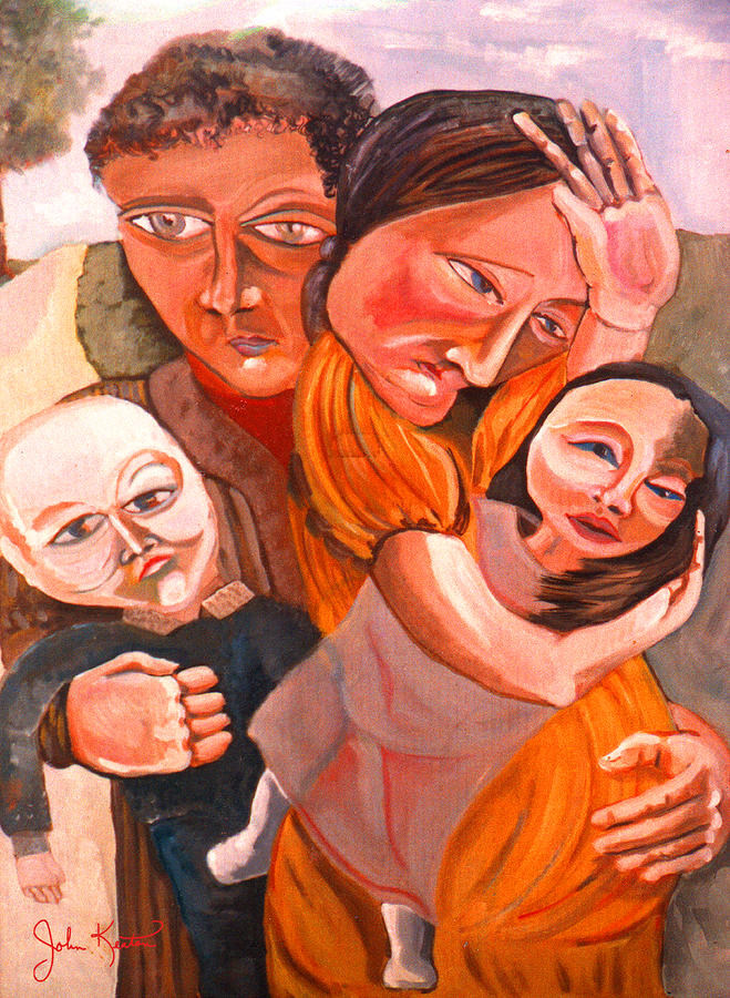 Family Struggle Painting