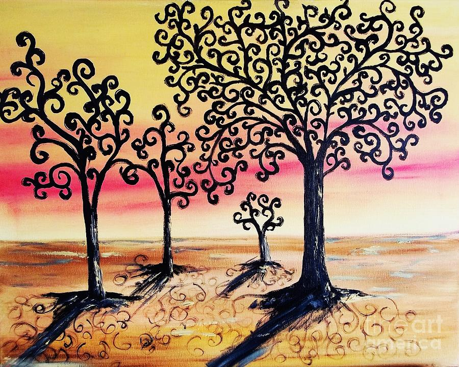 Family Tree- Original Oil  Painting  - Family Tree- Original Oil  Fine Art Print